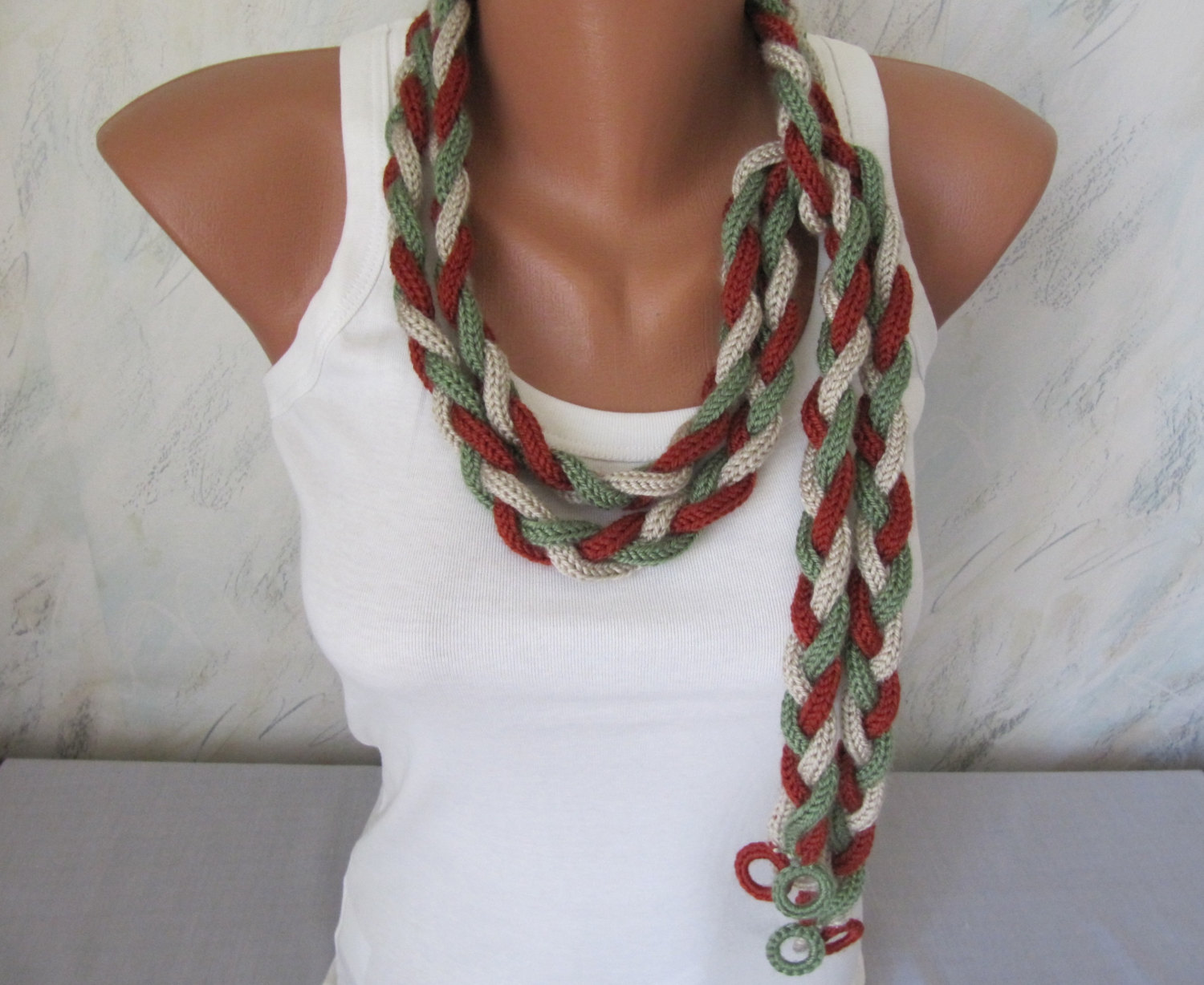 Handmade Knitted Extra Long Scarf Tracery, Fashion Scarves ...