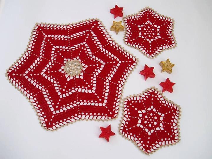 Lace crochet christmas table decoration lace crochet for Crochet decorations for home
