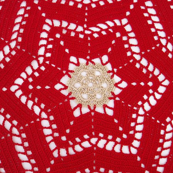 Lace Crochet Christmas Table Decoration Lace Crochet Doilies Crochet Set Home Decor Red Crochet Doily