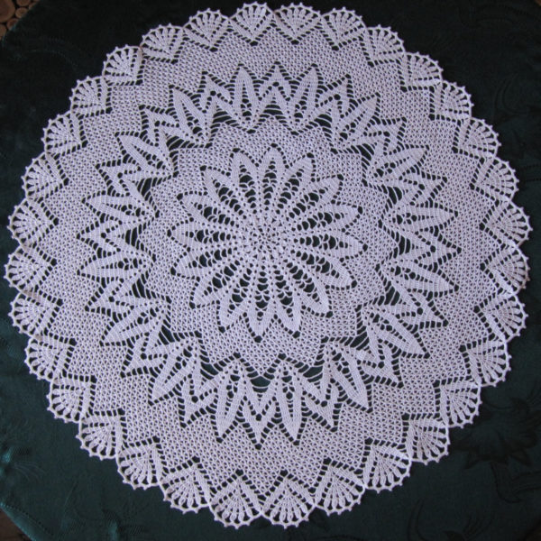 Lace Crochet Tablecloth Handmade White Round Cover Crochet White