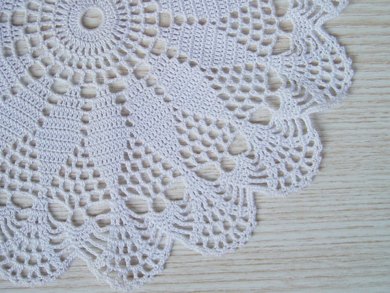 Lace Crochet White Round Doily Crochet Centerpiece Lace Crochet