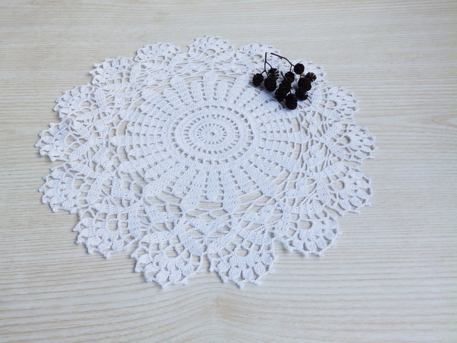 lace crochet white round table decoration doily handmade. Black Bedroom Furniture Sets. Home Design Ideas