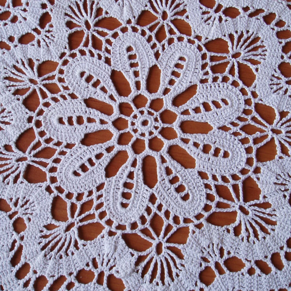 White Lace Crochet Doily Crochet Round Doily Lace Table Decor