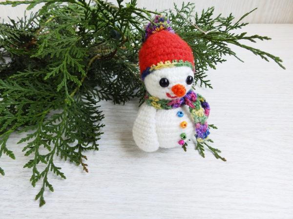 Amigurumi Snowman : Stuffed crochet snowman amigurumi christmas ornament tree decor